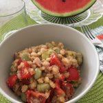 Orzo e amaranto con fave, pomodori e tonno contro il caldo